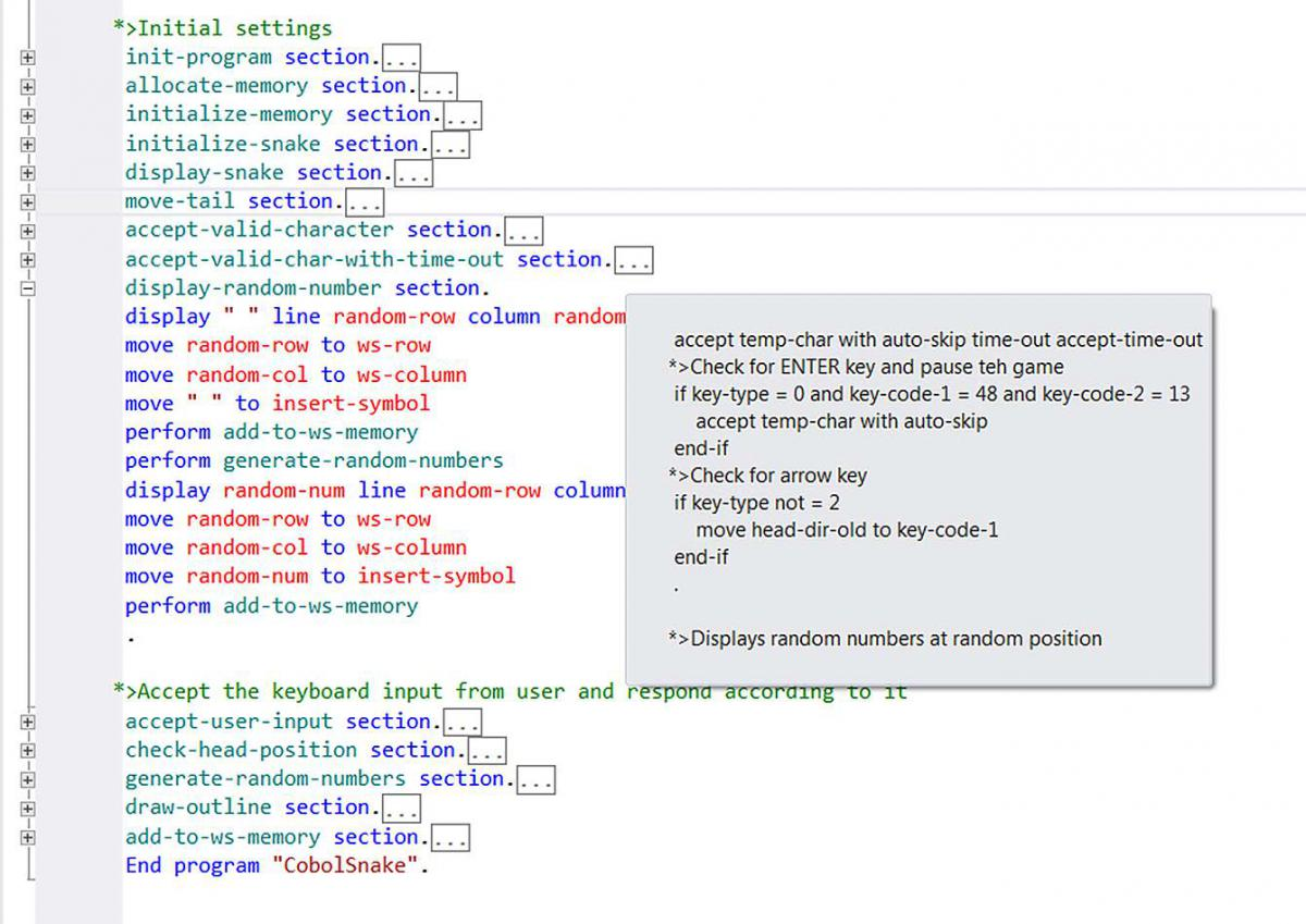 Collapsible regions in Visual Studio